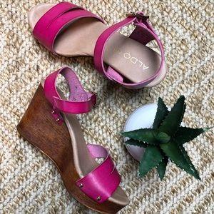 fa0b8ba00043 Women s Pink Aldo Wedges on Poshmark